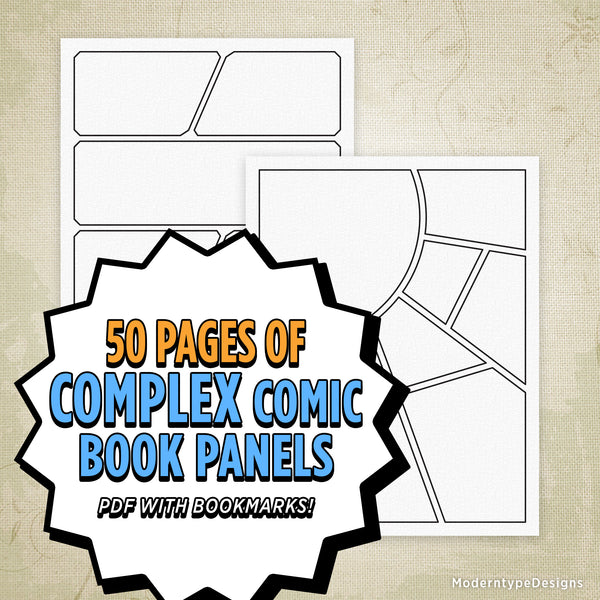 Complex Comic Book Panels Printable