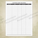 Coupon Code Tracker Printable