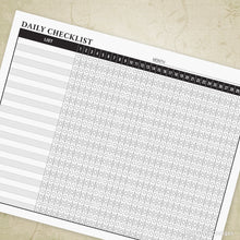 Load image into Gallery viewer, Daily Checklist Planner Printable