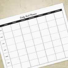 Load image into Gallery viewer, Daily Meal Planner Printable