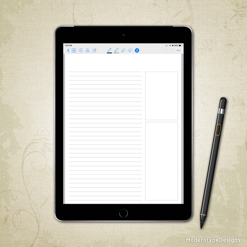 Digital Meeting Notes Planner