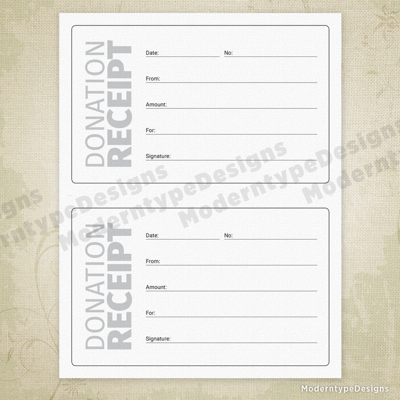 Donations Receipt Printable