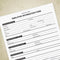 Employee Information Printable Form (editable)