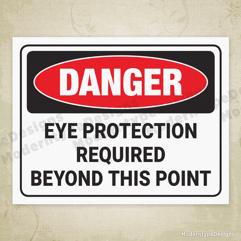 Eye Protection Required Printable Sign