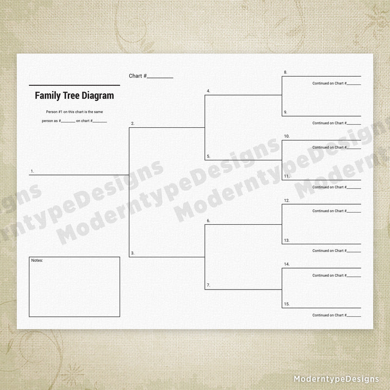 Family Tree Drawing Printable