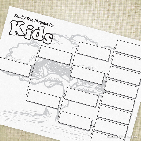 Family Tree Diagram for Kids Printable