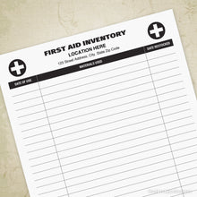 First Aid Inventory Log Printable (editable)