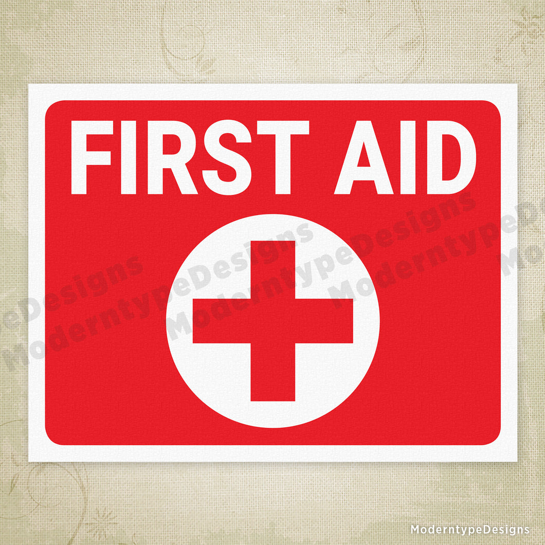 photograph regarding First Aid Sign Printable identified as To start with Assist Printable Signal