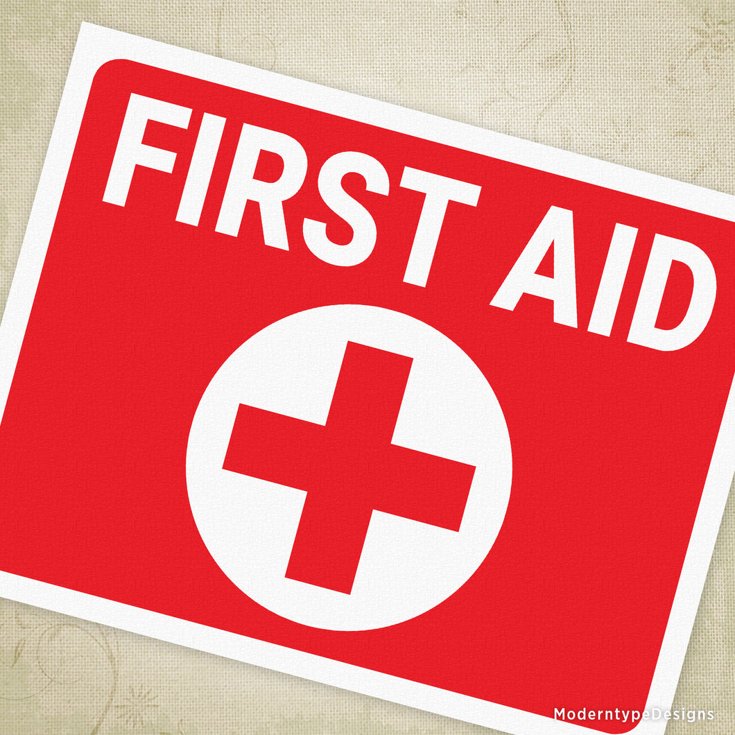picture regarding Printable First Aid Sign named Initially Assist Printable Signal
