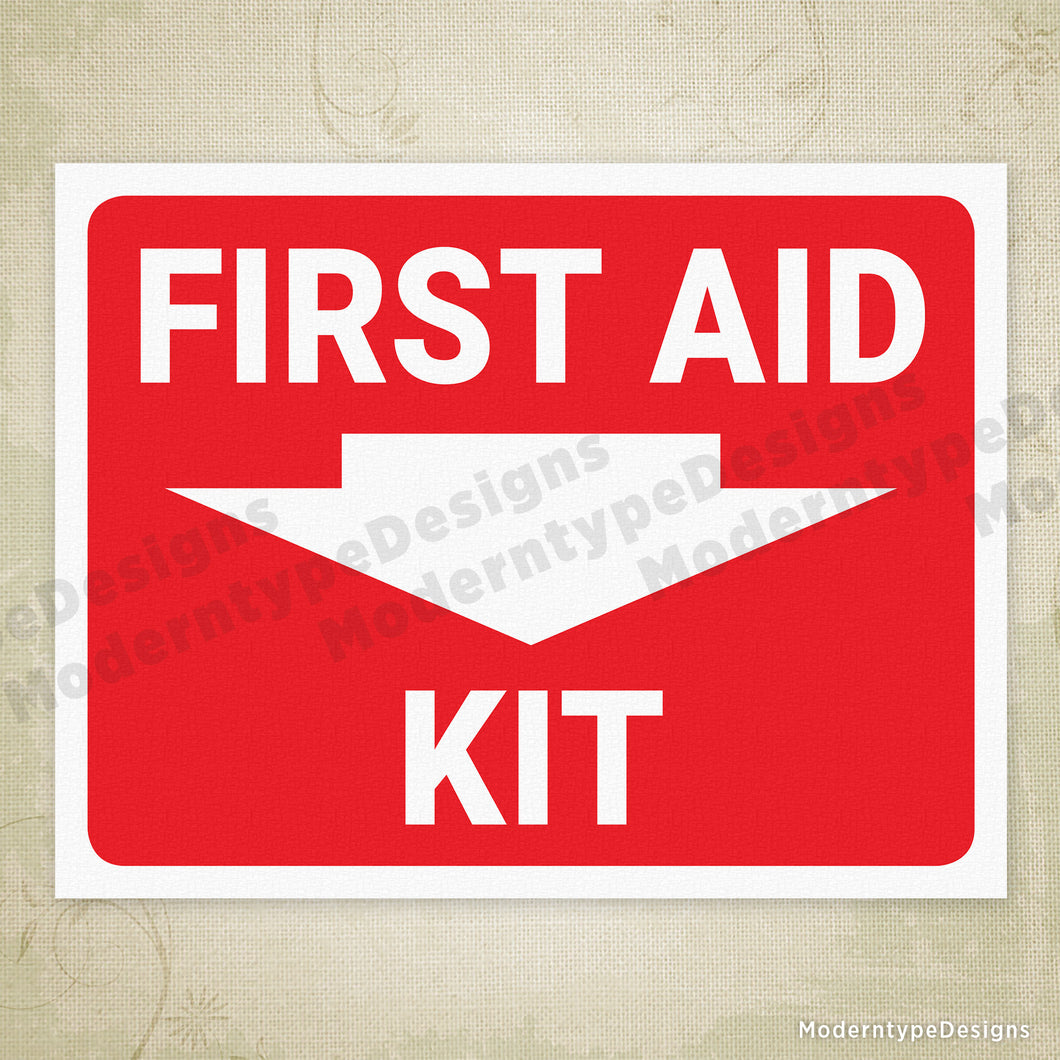 picture regarding First Aid Sign Printable called Initial Guidance Package Printable Indication