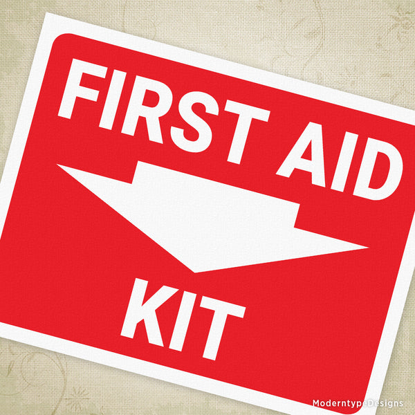 First Aid Kit Printable Sign