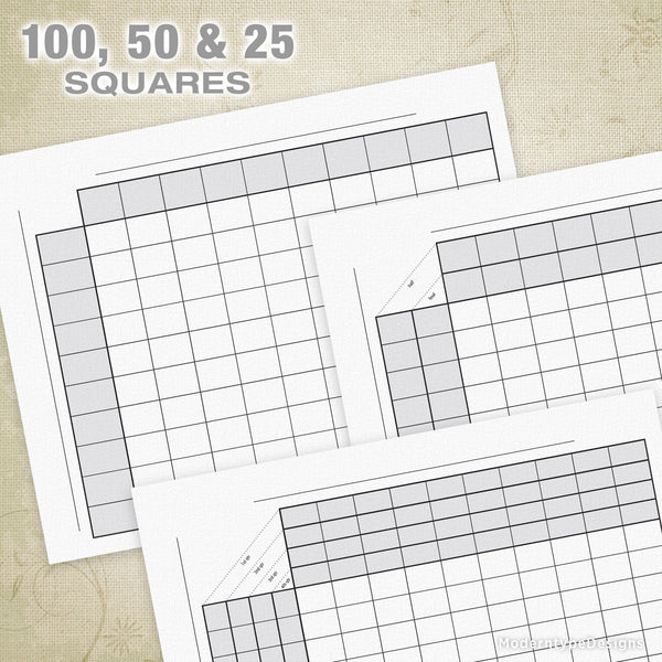 Football Sports Pool Squares Printable (editable)