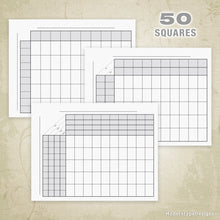Load image into Gallery viewer, 50 Football Sports Pool Squares Printable (editable)