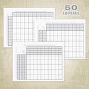 50 Football Sports Pool Squares Printable (editable)