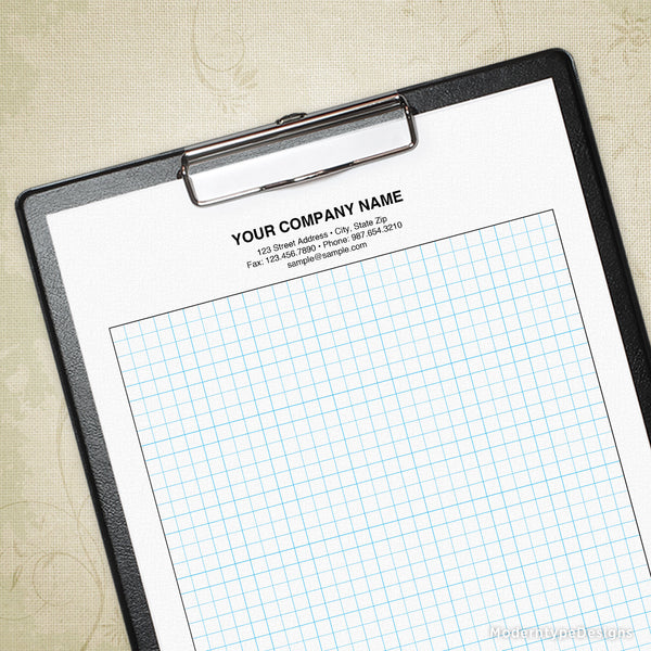 Graph Paper Printable for Clipboard (editable), Drawing Sheet, Sketch Pad, Grid Paper
