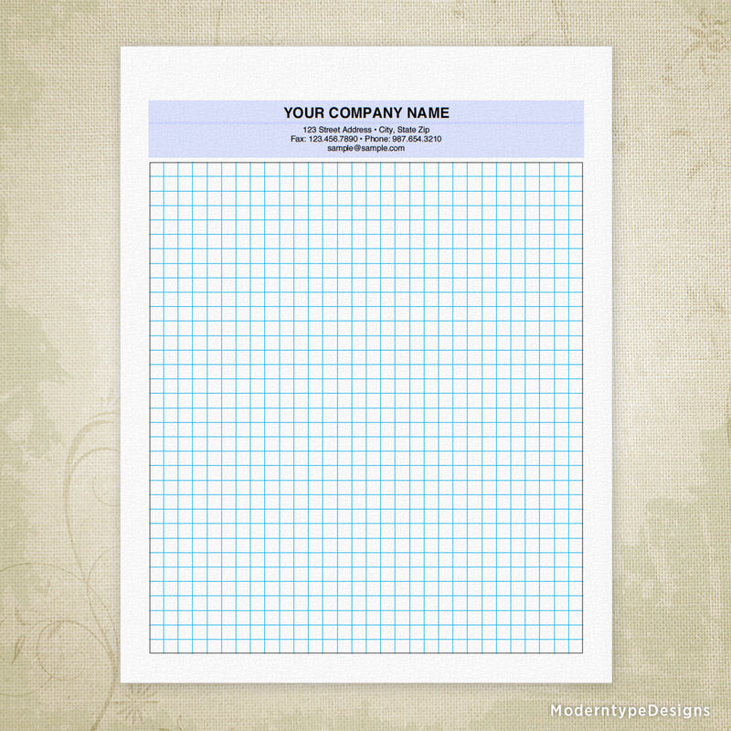 Graph Paper Printable for Clipboard (personalized)