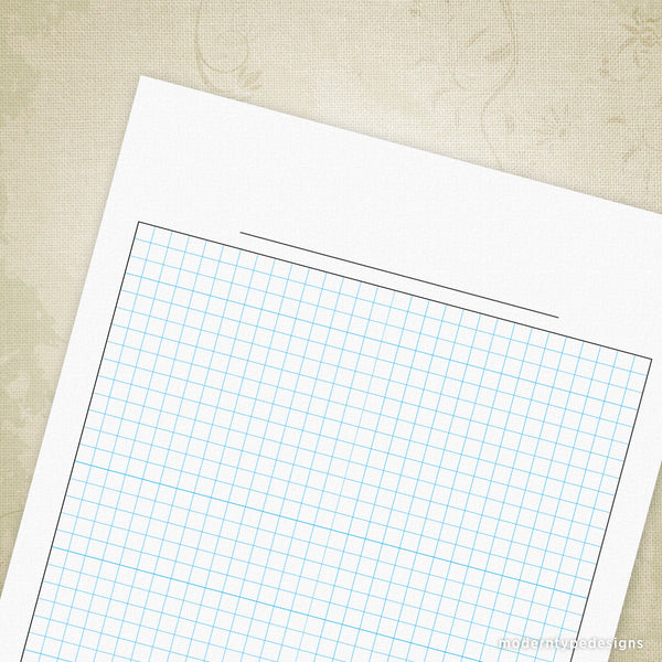 Graph Paper Printable for Clipboard