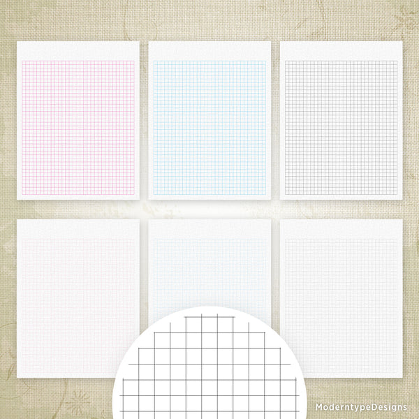 Regular Square Grid Digital Paper Printable