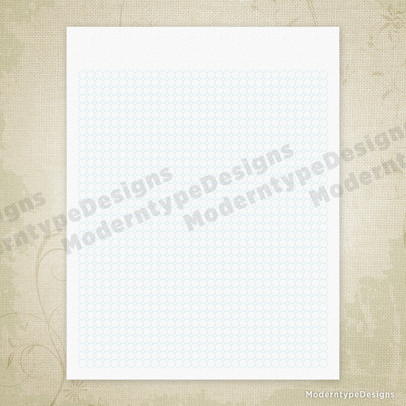 Octagon Grid Digital Paper Printable
