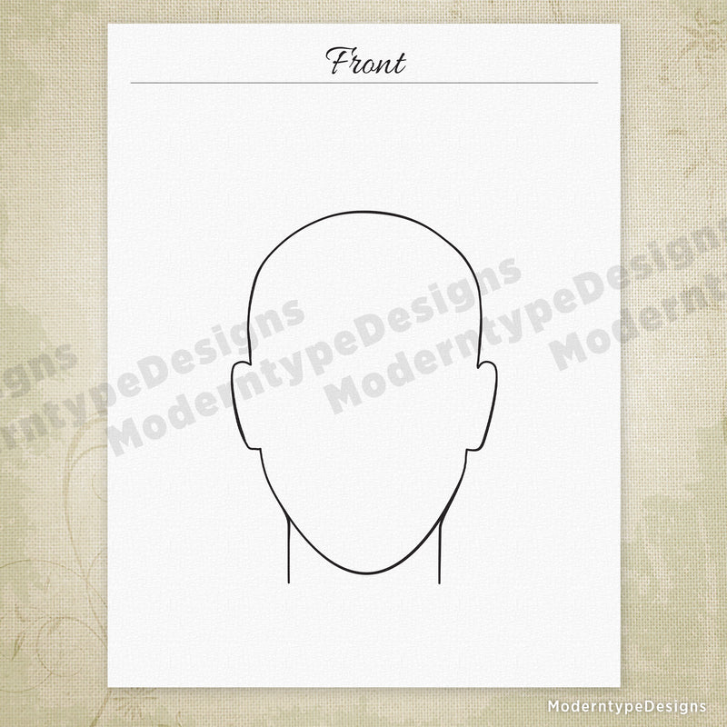 Hairstyles Drawing Printable