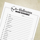 Halloween Word Scramble Game Printable