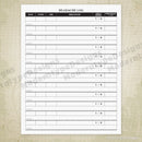 Headache Log Printable Form