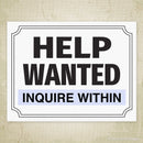 Help Wanted Printable Sign (editable)