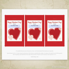 Load image into Gallery viewer, Valentine's Day Glow Stick Pencil Tag Printable (editable)