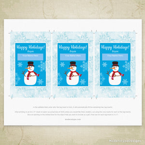 Holiday Glow Stick, Pencil Tag Printable (editable)