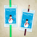 Holiday Glow Stick, Pencil Tag Printable (personalized)