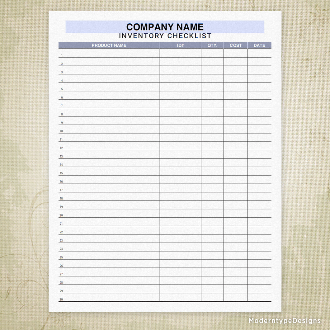 image about Printable Inventory Sheets identify Stock Record Tracker Printable (editable
