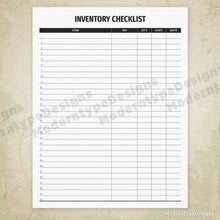 Load image into Gallery viewer, Inventory Checklist Printable