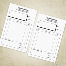 "Load image into Gallery viewer, Invoice Form Printable 5.5 x 8.5"" Half Sheet (editable)"