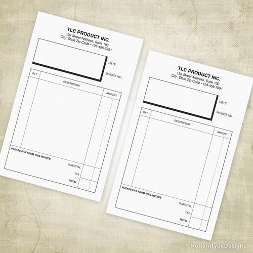 Invoice Form Printable 5.5 x 8.5