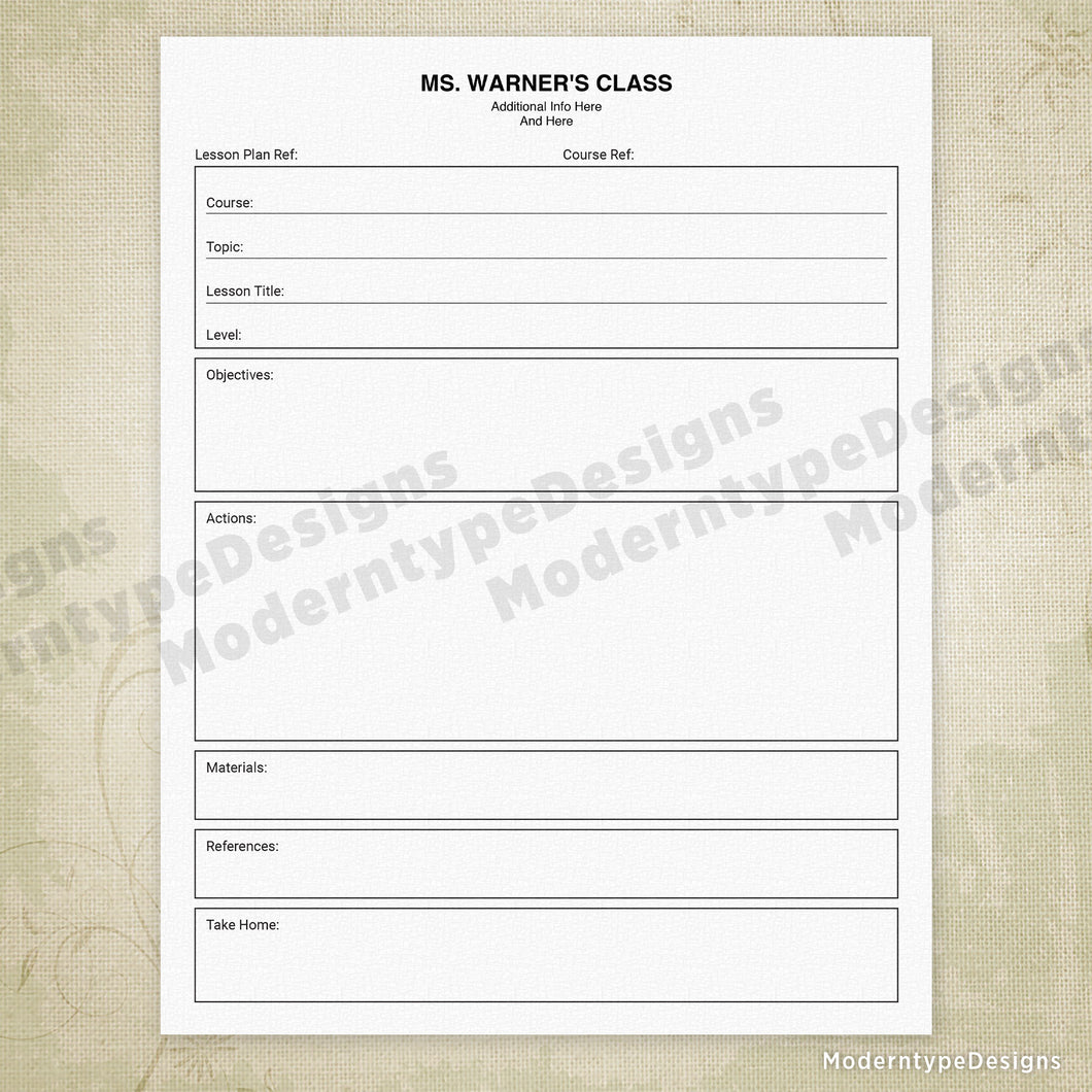 graphic about Lesson Planner Printable called Faculty Lesson Planner Printable Moderntype Strategies