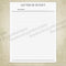 Blank Letter of Intent Printable - End of Life