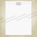 Letterhead Printable Simple Design 1 (editable)
