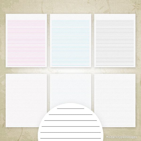 Lined Digital Paper Printable