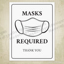 Masks Required Printable Sign