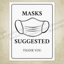 Masks Suggested Printable Sign