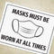 Masks Must Be Worn Printable Sign