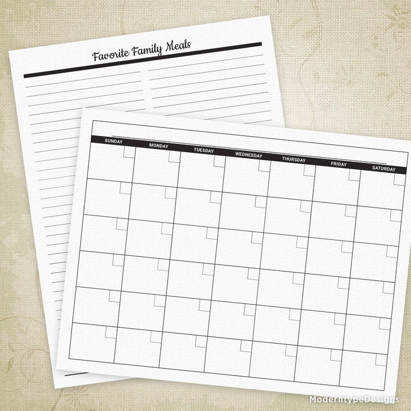 Meal Planner Printable Kit
