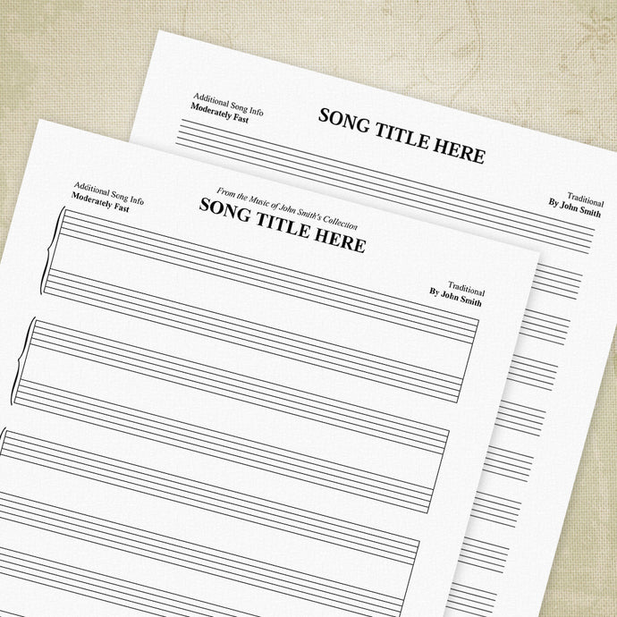 Music Staff Bar Charts Printable (editable), Manuscript Paper, Staves, Sheet Music Planner, Editable Custom Templates