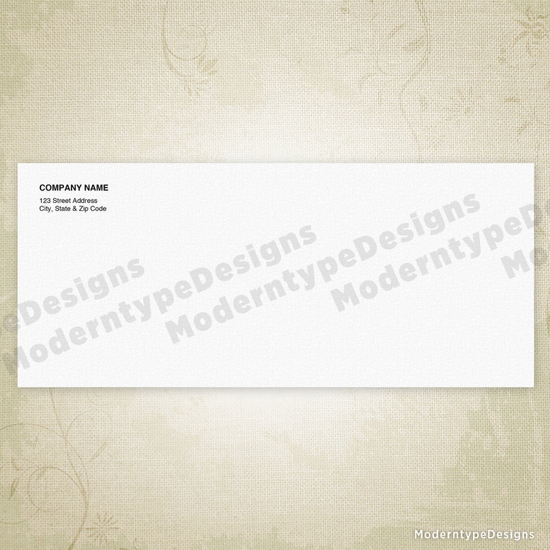 No. 10 Standard Envelope Printable (editable)