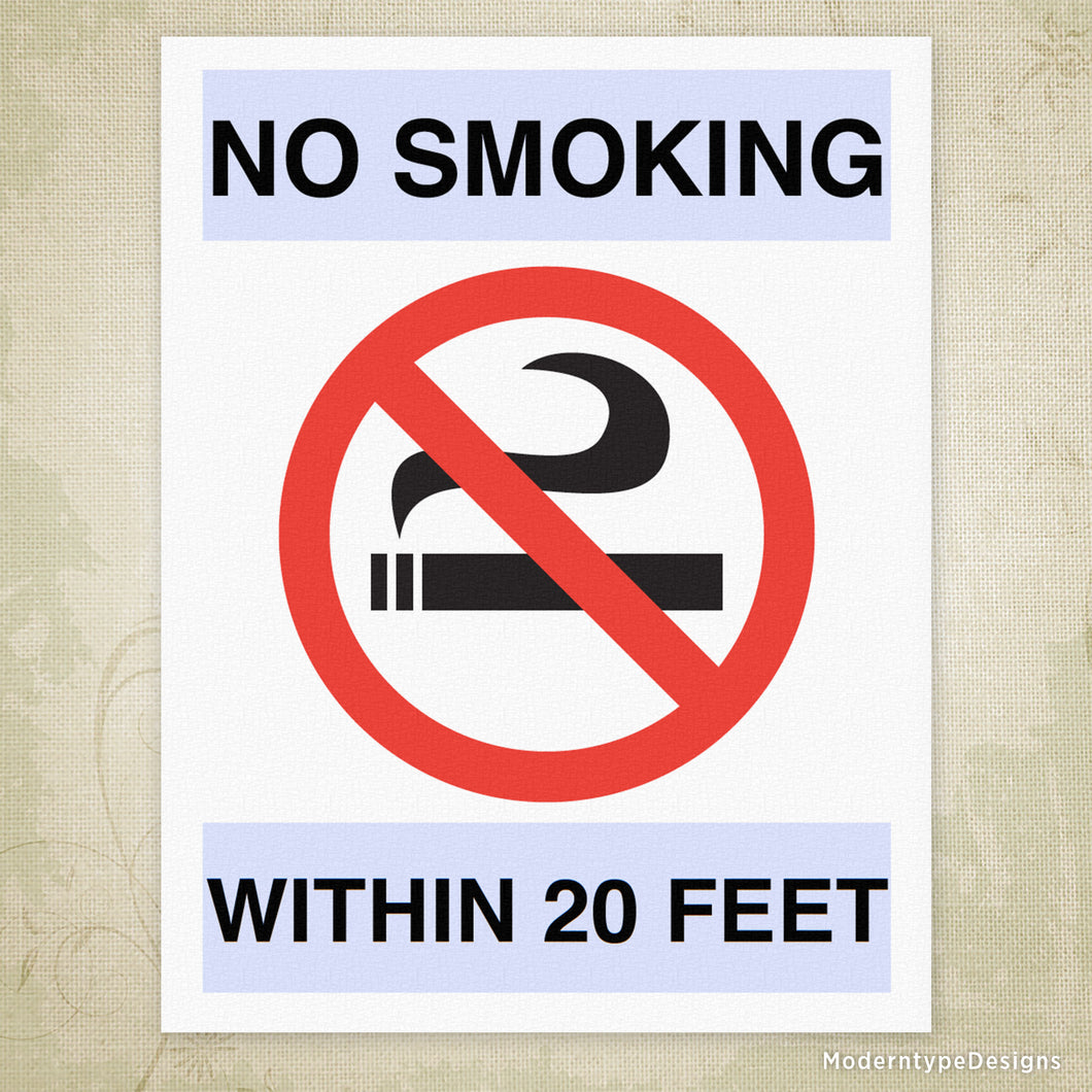 graphic about Printable No Smoking Sign called No Smoking cigarettes Printable Signal (editable) Moderntype Layouts