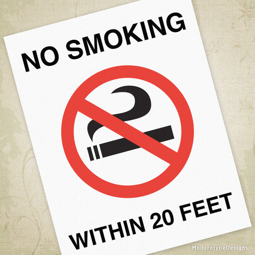 No Smoking Printable Sign (editable)