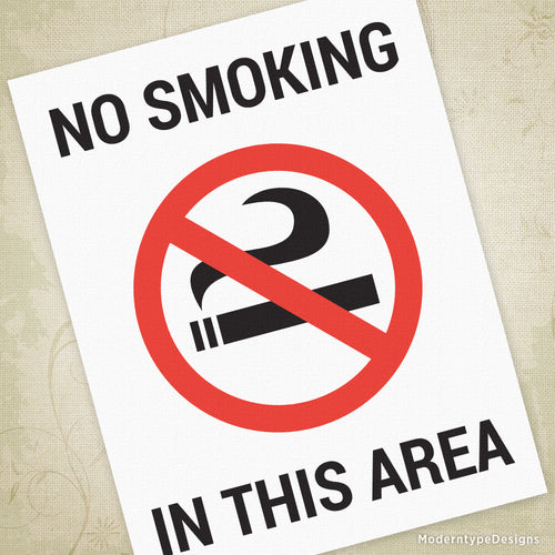 No Smoking Printable Sign