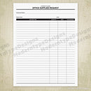 Office Supplies Request Printable Form (editable)