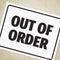 Out of Order Printable Sign