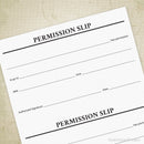 Permission Slip 2UP Printable